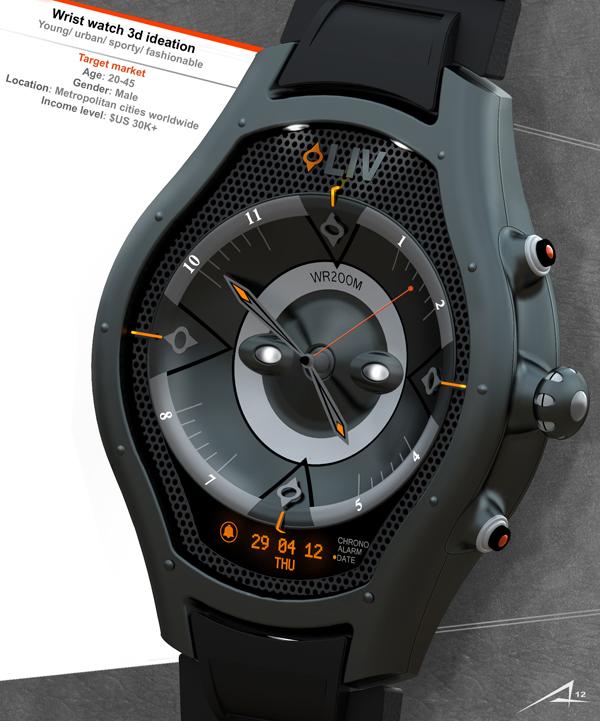 LIV an ultra-durable, waterproof sporty watch