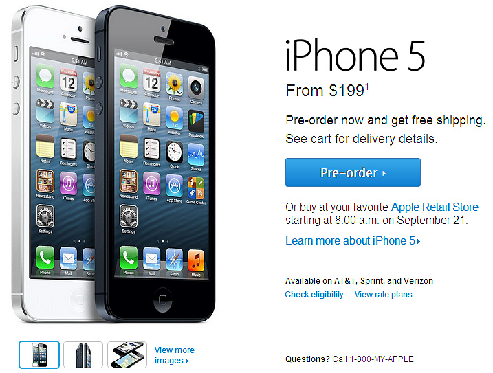 iPhone 5 pre-oders