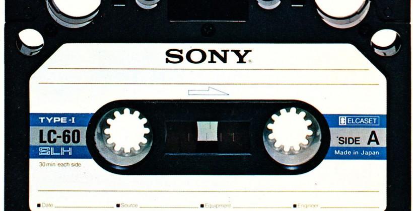 Sony's 185TB Cassette Tape